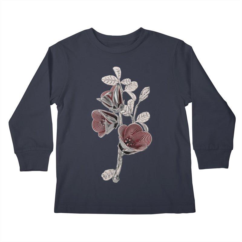 Enchanted Flower I Kids Longsleeve T-Shirt by Genius Design Lab's Artist Shop