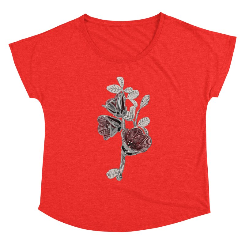 Enchanted Flower I Women's Scoop Neck by Genius Design Lab's Artist Shop