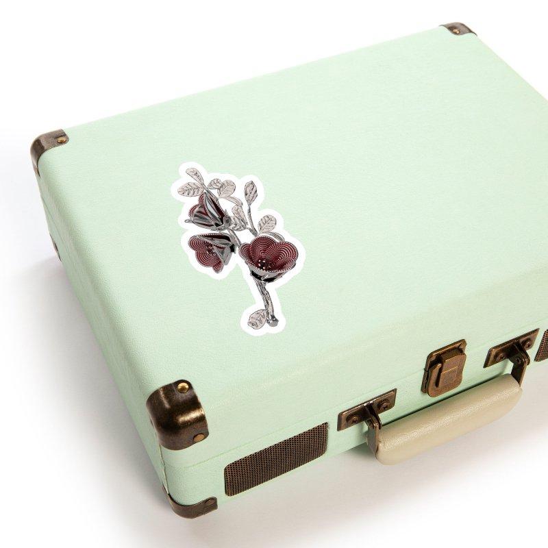 Enchanted Flower I Accessories Sticker by Genius Design Lab's Artist Shop