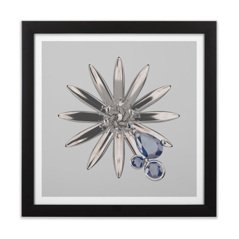 Enchanted Flower II Home Framed Fine Art Print by Genius Design Lab's Artist Shop