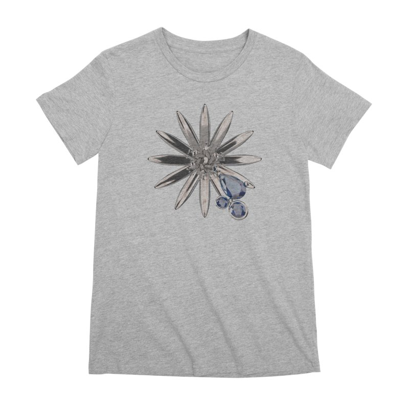Enchanted Flower II Women's Premium T-Shirt by Genius Design Lab's Artist Shop