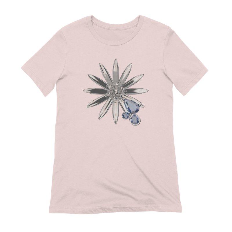 Enchanted Flower II Women's Extra Soft T-Shirt by Genius Design Lab's Artist Shop