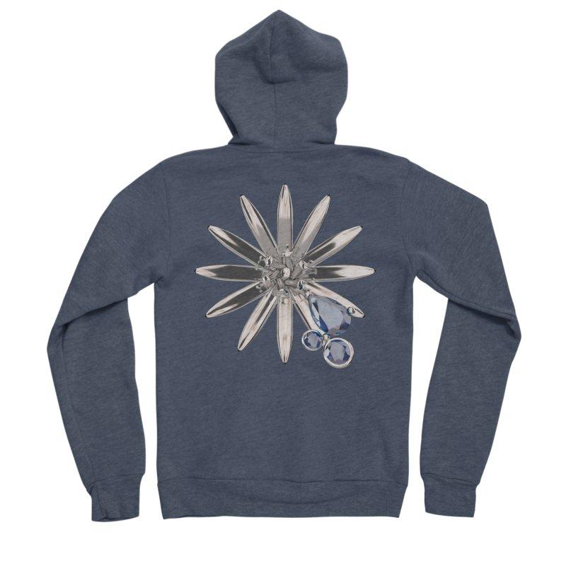 Enchanted Flower II Men's Sponge Fleece Zip-Up Hoody by Genius Design Lab's Artist Shop