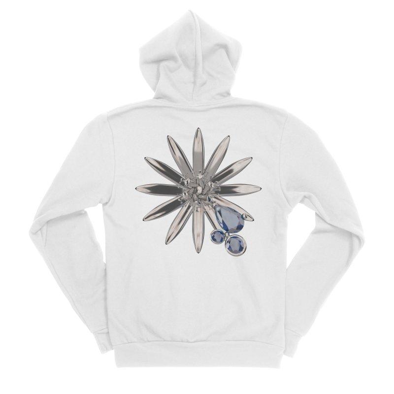Enchanted Flower II Women's Zip-Up Hoody by Genius Design Lab's Artist Shop