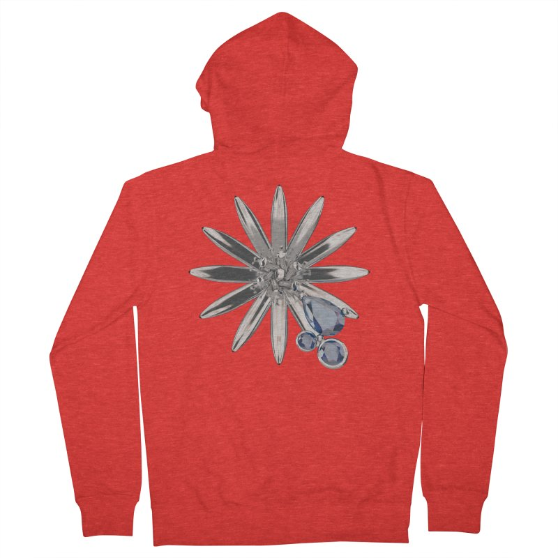 Enchanted Flower II Women's Zip-Up Hoody by Genius Design Lab's Artist Shop