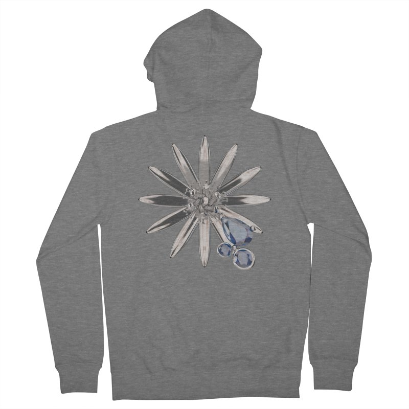 Enchanted Flower II Men's French Terry Zip-Up Hoody by Genius Design Lab's Artist Shop
