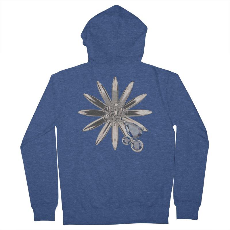 Enchanted Flower II Men's Zip-Up Hoody by Genius Design Lab's Artist Shop