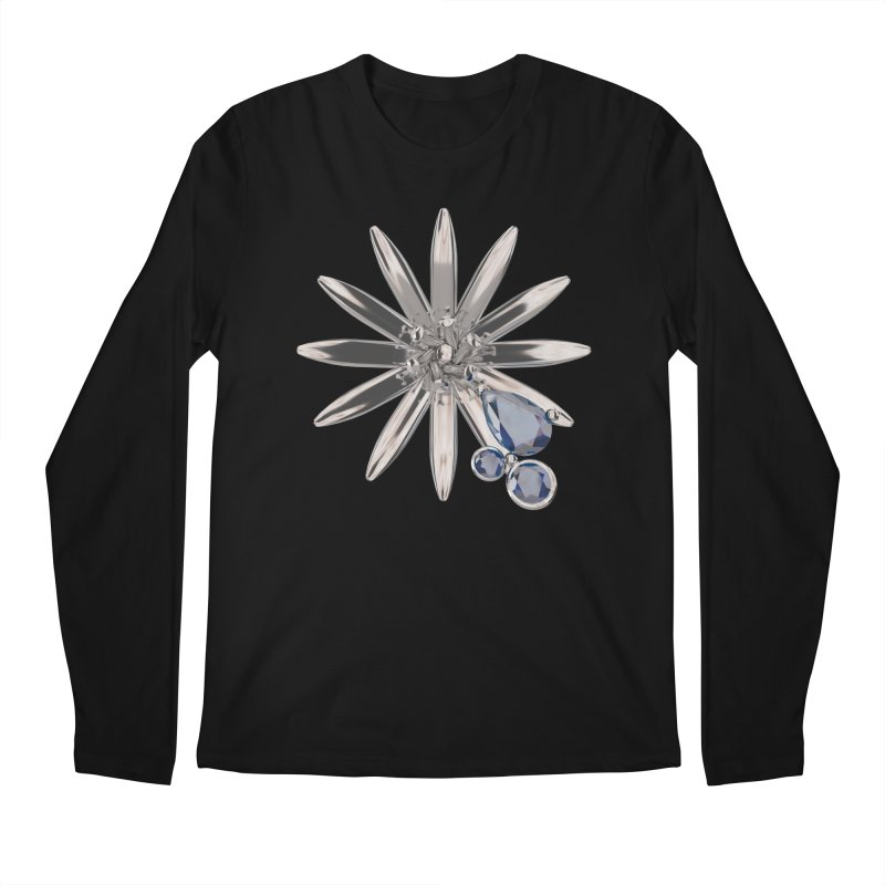 Enchanted Flower II Men's Regular Longsleeve T-Shirt by Genius Design Lab's Artist Shop