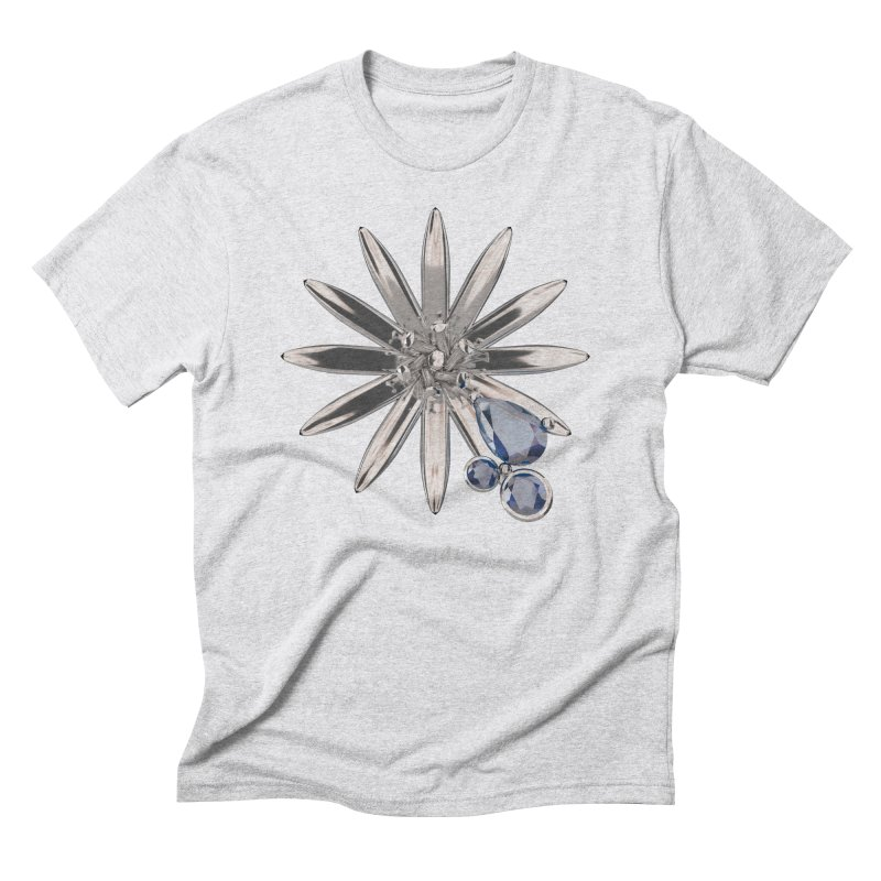 Enchanted Flower II Men's Triblend T-Shirt by Genius Design Lab's Artist Shop