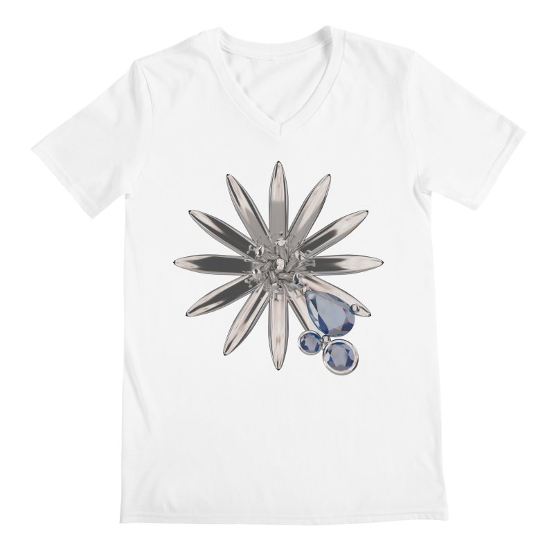 Enchanted Flower II Men's V-Neck by Genius Design Lab's Artist Shop