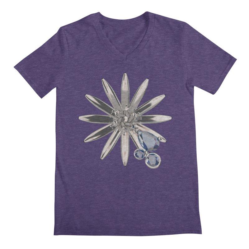 Enchanted Flower II Men's V-Neck by Genius Design Lab's Artist Shop