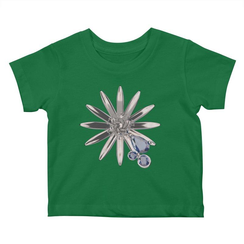 Enchanted Flower II Kids Baby T-Shirt by Genius Design Lab's Artist Shop