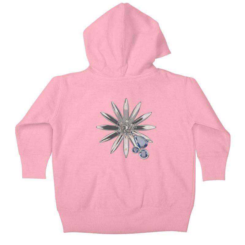 Enchanted Flower II Kids Baby Zip-Up Hoody by Genius Design Lab's Artist Shop