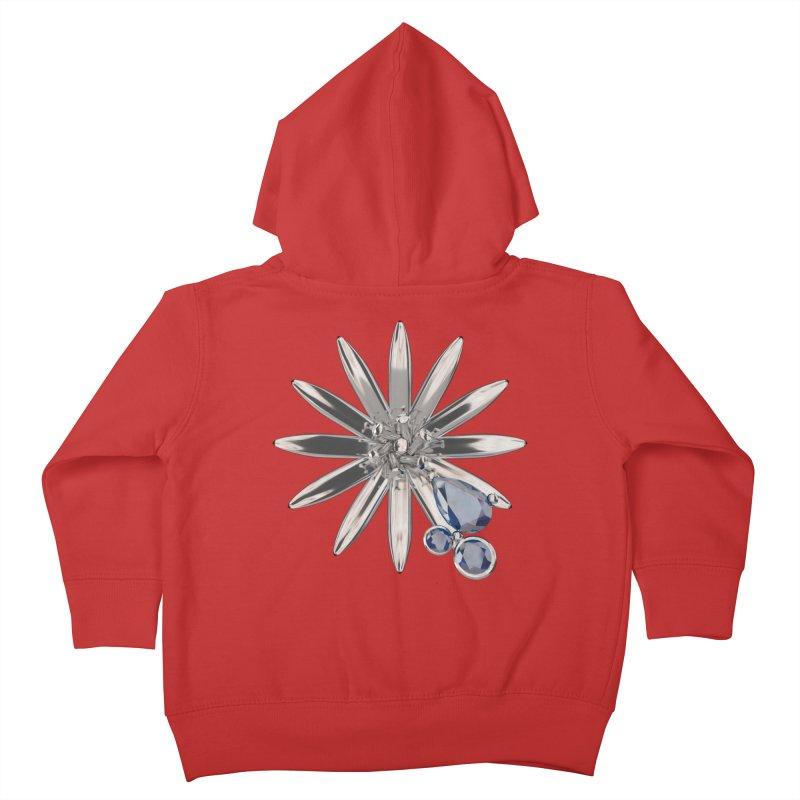 Enchanted Flower II Kids Toddler Zip-Up Hoody by Genius Design Lab's Artist Shop
