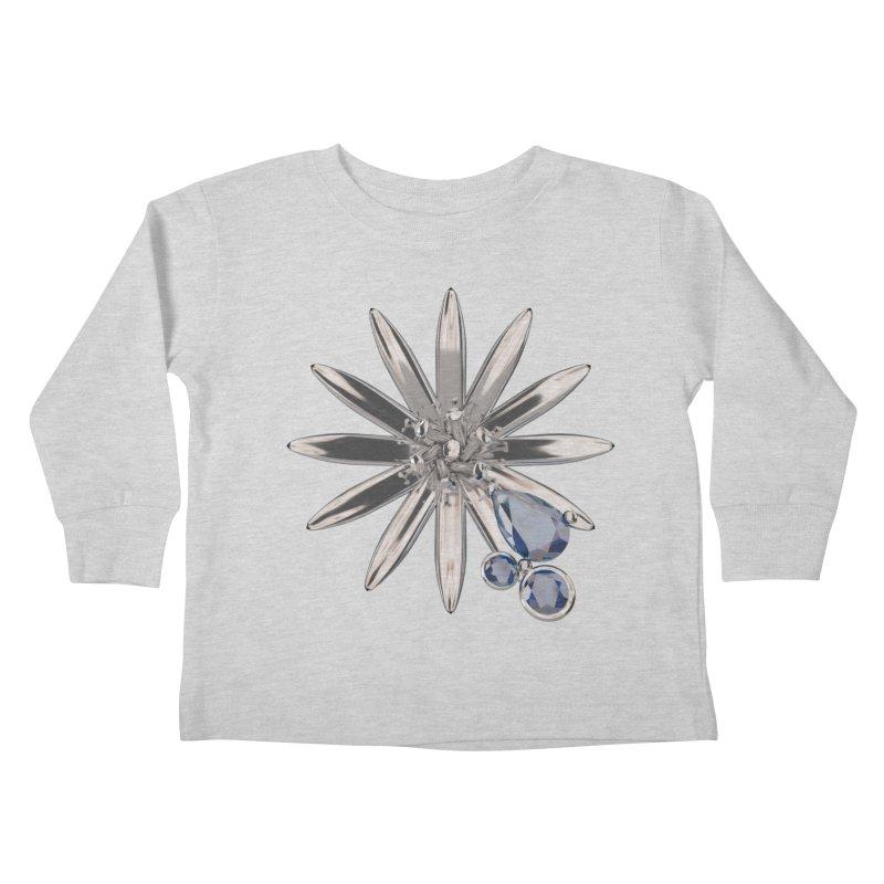 Enchanted Flower II Kids Toddler Longsleeve T-Shirt by Genius Design Lab's Artist Shop