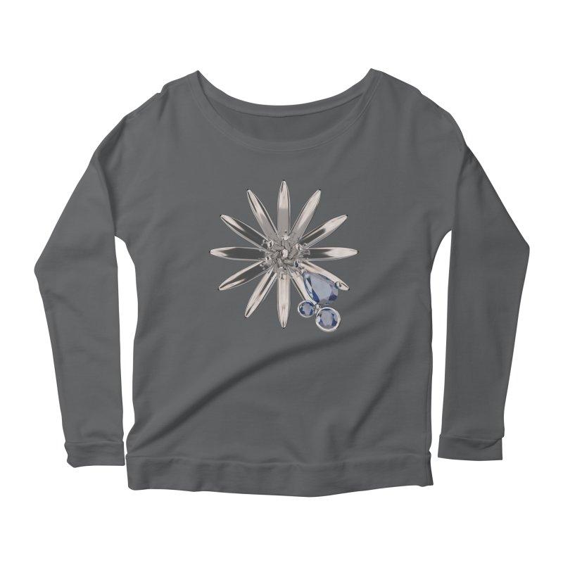 Enchanted Flower II Women's Scoop Neck Longsleeve T-Shirt by Genius Design Lab's Artist Shop