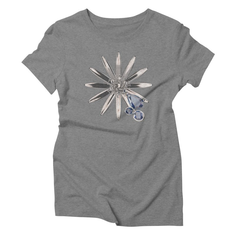 Enchanted Flower II Women's Triblend T-Shirt by Genius Design Lab's Artist Shop
