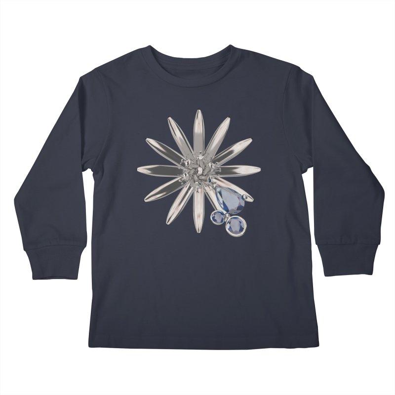Enchanted Flower II Kids Longsleeve T-Shirt by Genius Design Lab's Artist Shop