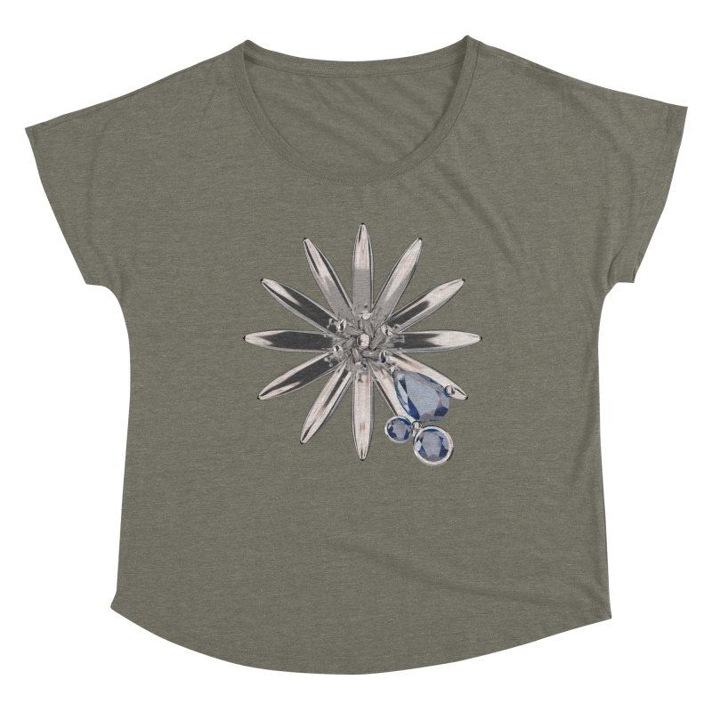 Enchanted Flower II Women's Scoop Neck by Genius Design Lab's Artist Shop