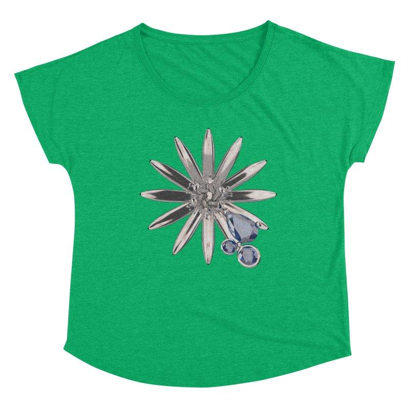 Enchanted Flower II Women's Scoop Neck by Genius Design Lab's Artist Shop