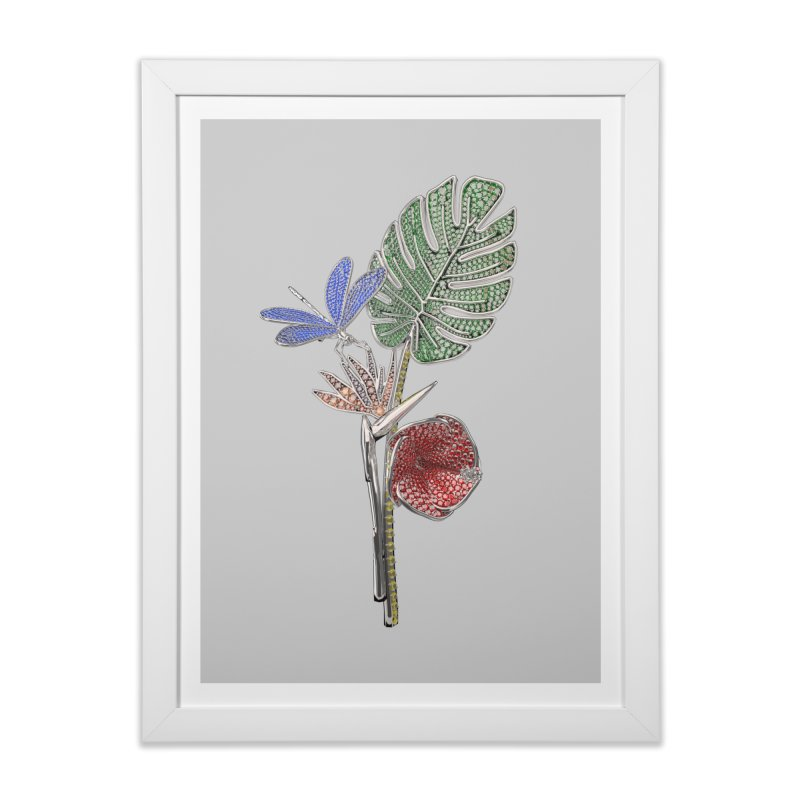 Enchanted Tropicália Home Framed Fine Art Print by Genius Design Lab's Artist Shop