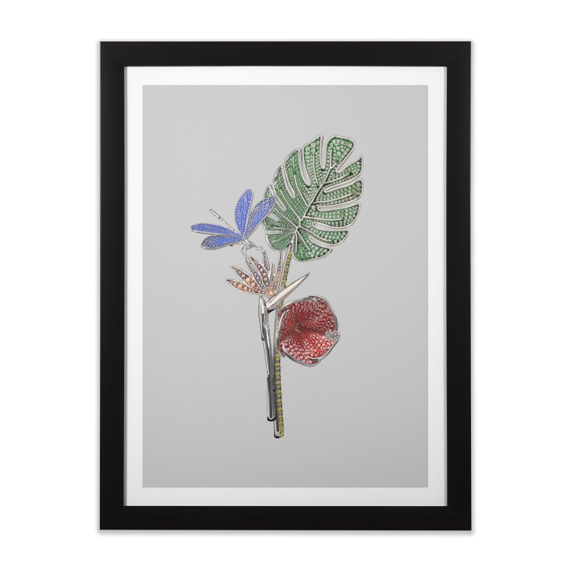 Enchanted Tropicália Home Framed Fine Art Print by Genius Design Lab's Artist Shop