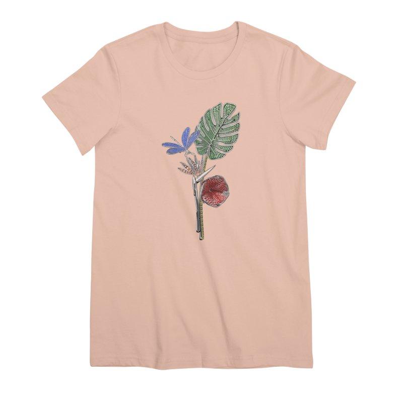 Enchanted Tropicália Women's Premium T-Shirt by Genius Design Lab's Artist Shop
