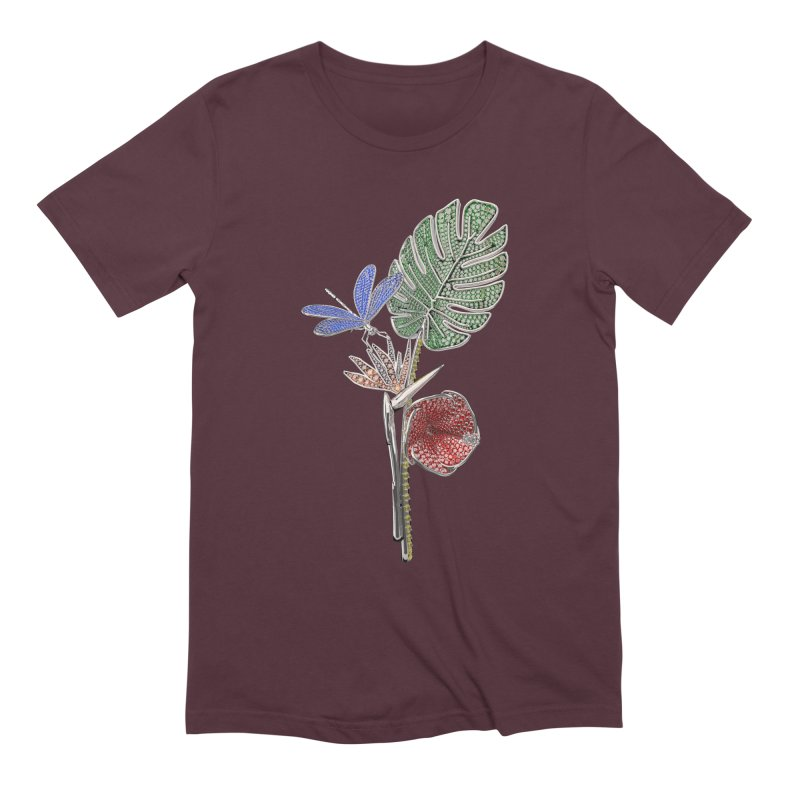 Enchanted Tropicália Men's T-Shirt by Genius Design Lab's Artist Shop
