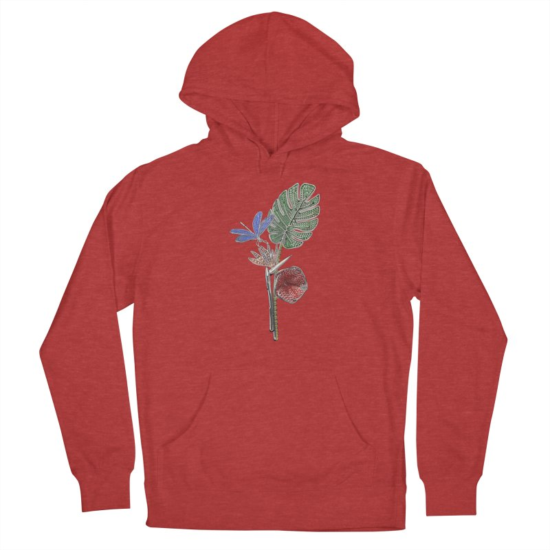 Enchanted Tropicália Men's French Terry Pullover Hoody by Genius Design Lab's Artist Shop