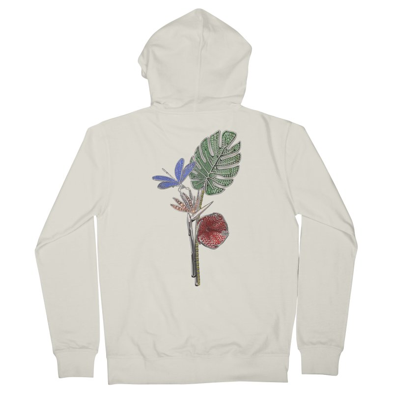 Enchanted Tropicália Women's Zip-Up Hoody by Genius Design Lab's Artist Shop