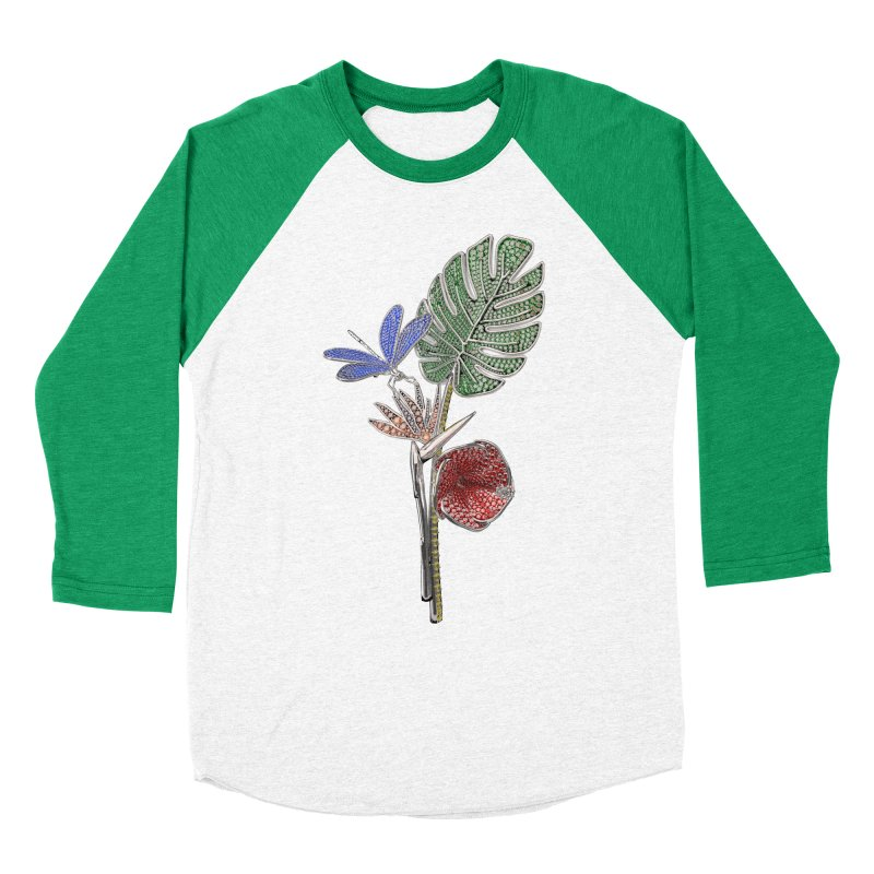Enchanted Tropicália Men's Baseball Triblend Longsleeve T-Shirt by Genius Design Lab's Artist Shop