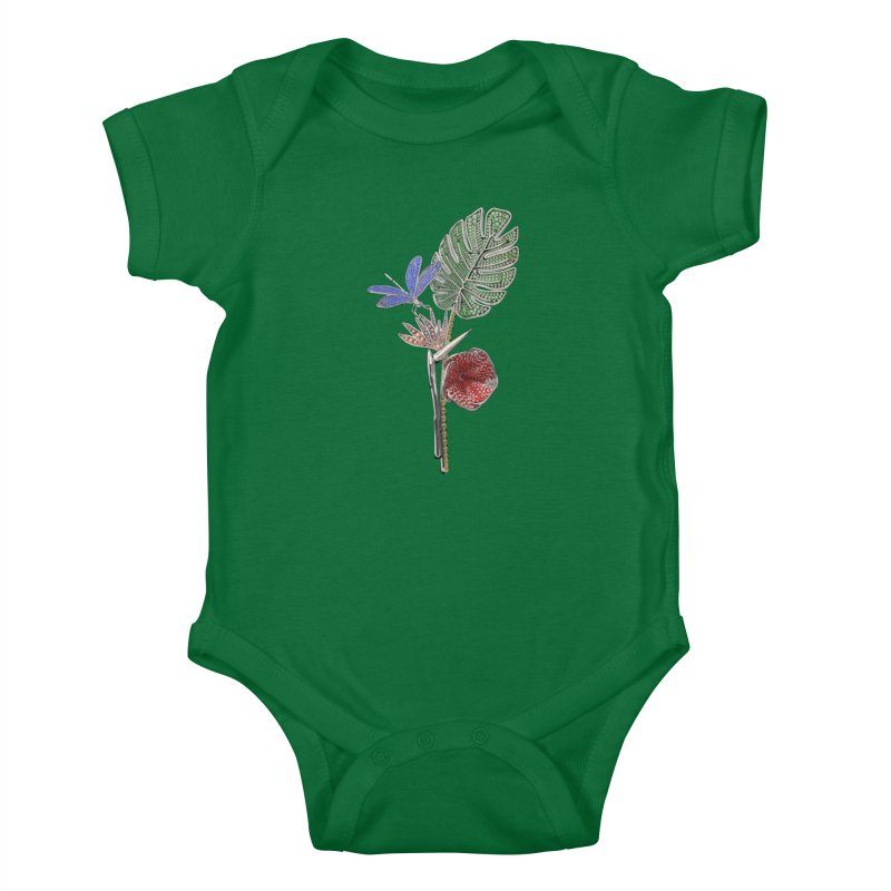 Enchanted Tropicália Kids Baby Bodysuit by Genius Design Lab's Artist Shop