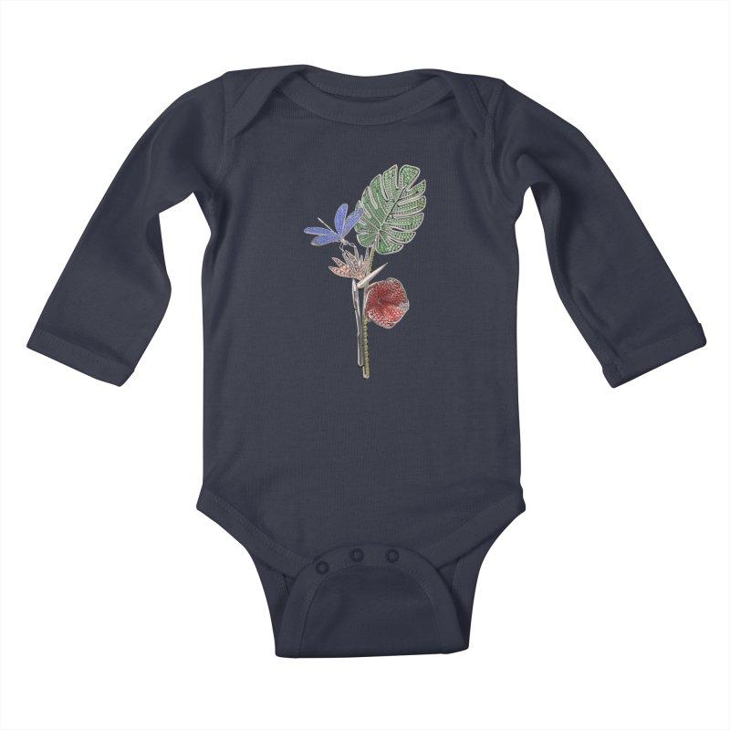 Enchanted Tropicália Kids Baby Longsleeve Bodysuit by Genius Design Lab's Artist Shop