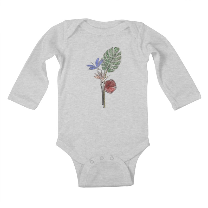 Enchanted Tropicália Kids Baby Longsleeve Bodysuit by Genius Design Lab's Artist Shop