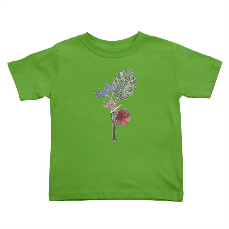 Enchanted Tropicália Kids Toddler T-Shirt by Genius Design Lab's Artist Shop