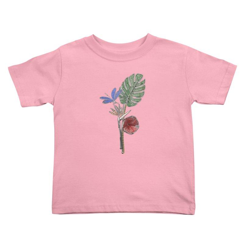 Enchanted Tropicália Kids Toddler T-Shirt by Genius Design Lab's Artist Shop