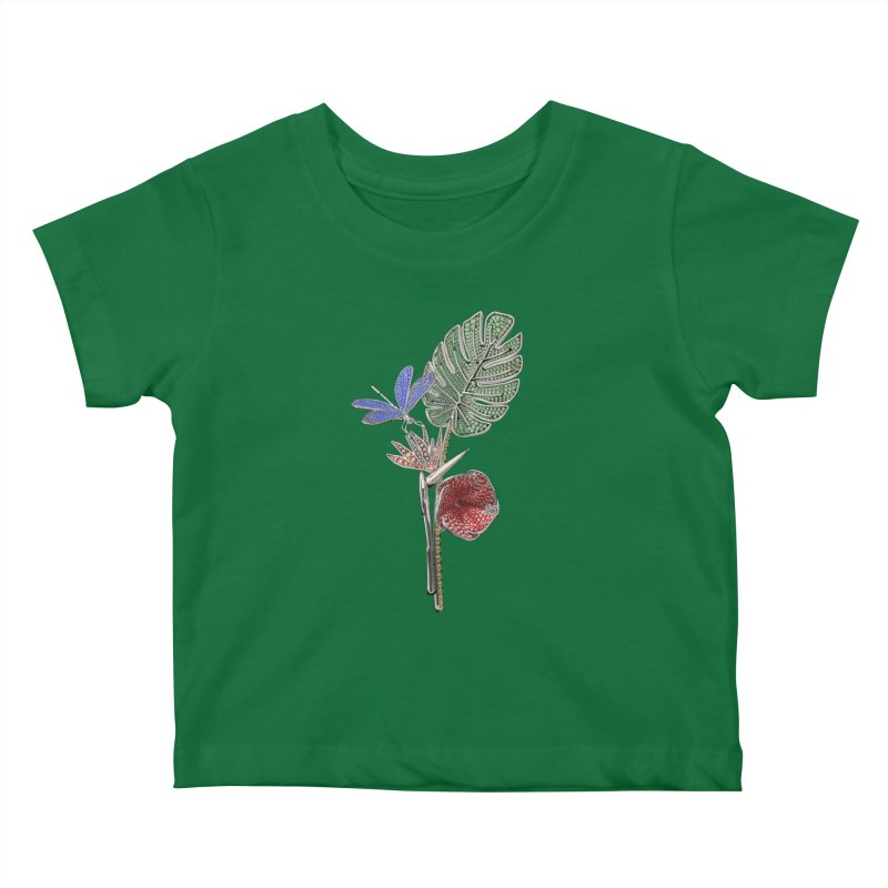Enchanted Tropicália Kids Baby T-Shirt by Genius Design Lab's Artist Shop