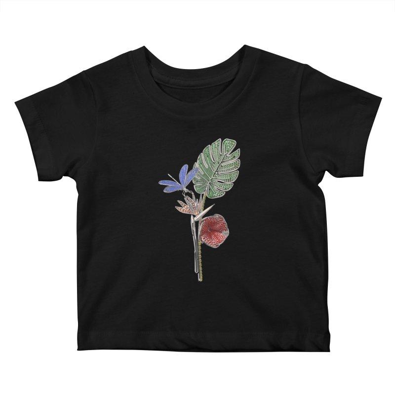 Enchanted Tropicália Kids Baby T-Shirt by Genius Design Lab's Artist Shop