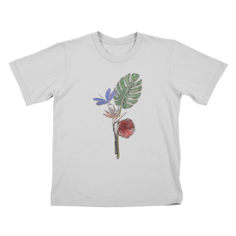 Enchanted Tropicália Kids T-Shirt by Genius Design Lab's Artist Shop