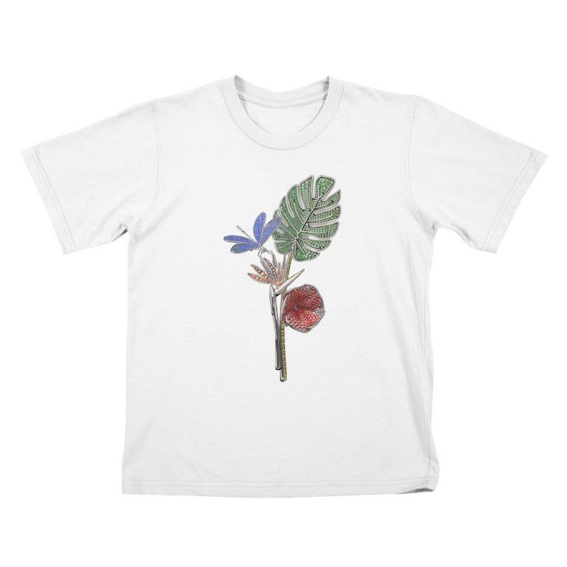 Enchanted Tropicália Kids T-Shirt by Genius Design Lab's Artist Shop