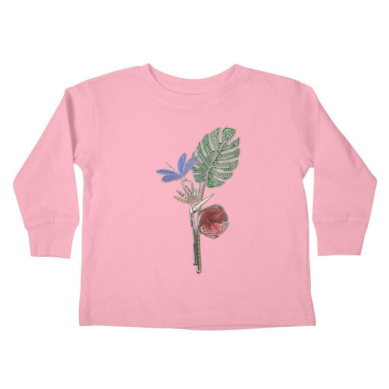 Enchanted Tropicália Kids Toddler Longsleeve T-Shirt by Genius Design Lab's Artist Shop