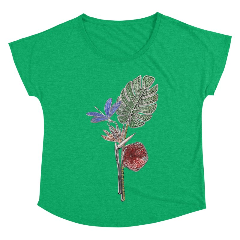 Enchanted Tropicália Women's Scoop Neck by Genius Design Lab's Artist Shop
