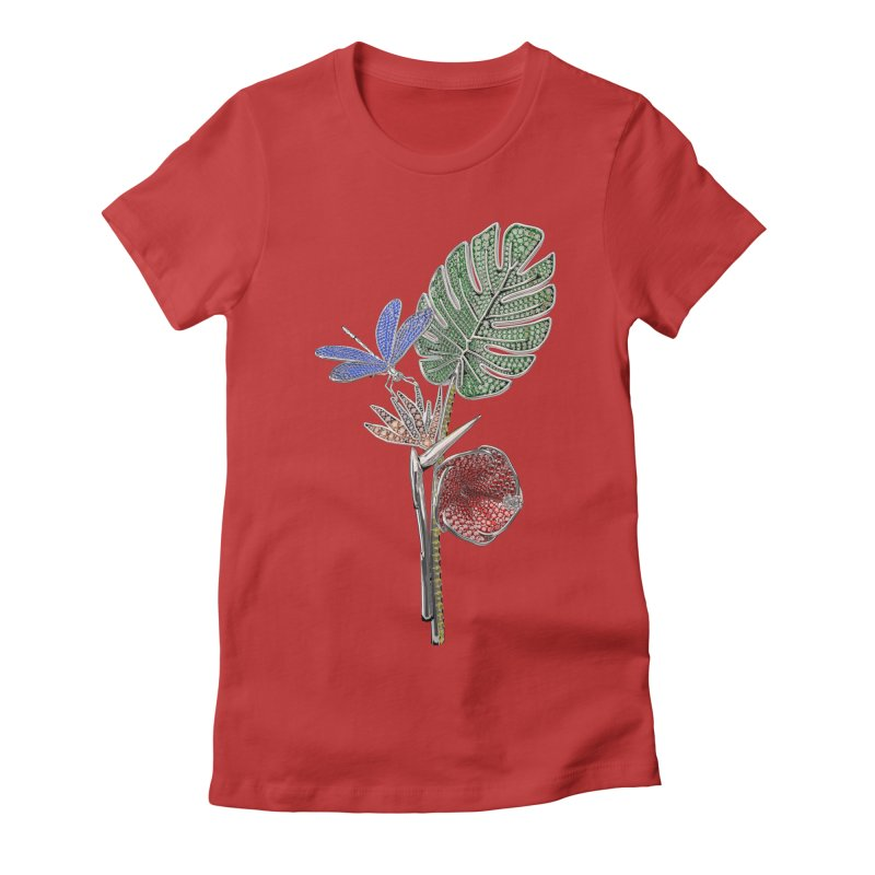 Enchanted Tropicália Women's Fitted T-Shirt by Genius Design Lab's Artist Shop