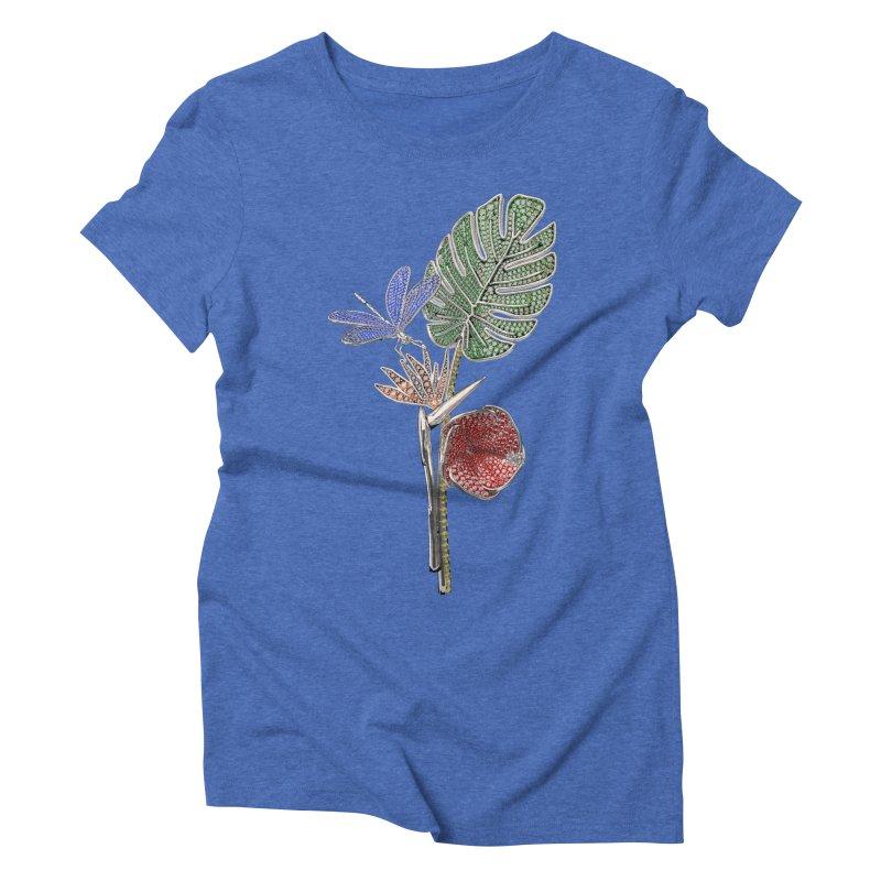 Enchanted Tropicália Women's Triblend T-Shirt by Genius Design Lab's Artist Shop