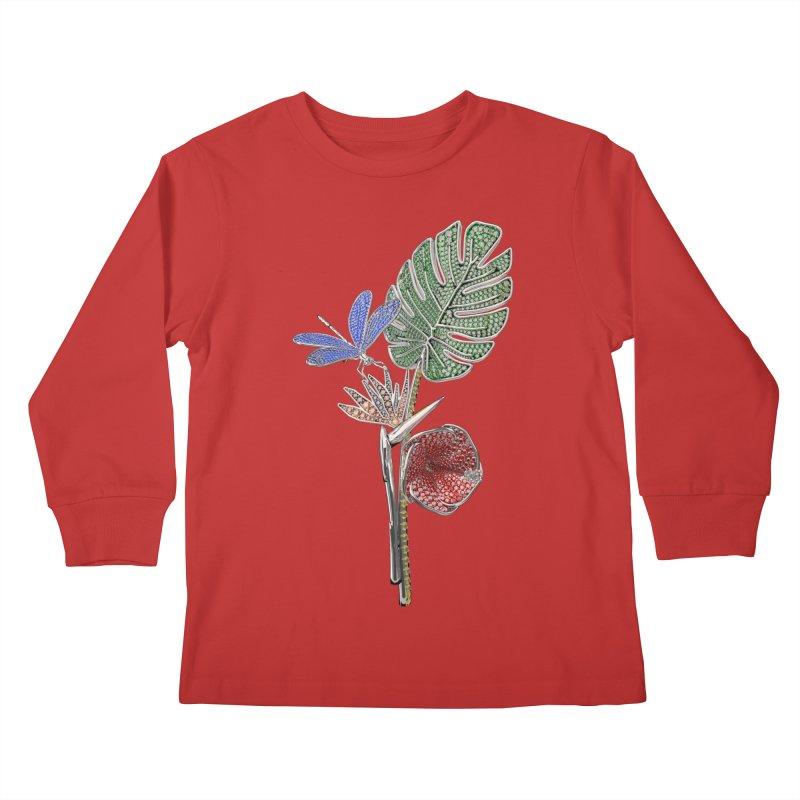 Enchanted Tropicália Kids Longsleeve T-Shirt by Genius Design Lab's Artist Shop