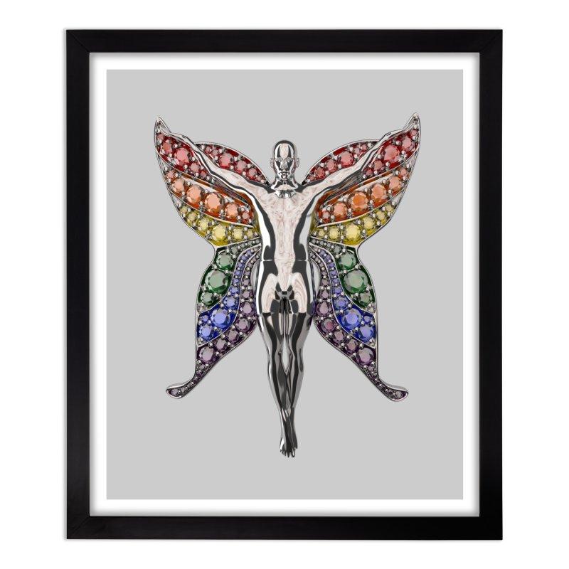 Enchanted Pride Fairy Home Framed Fine Art Print by Genius Design Lab's Artist Shop