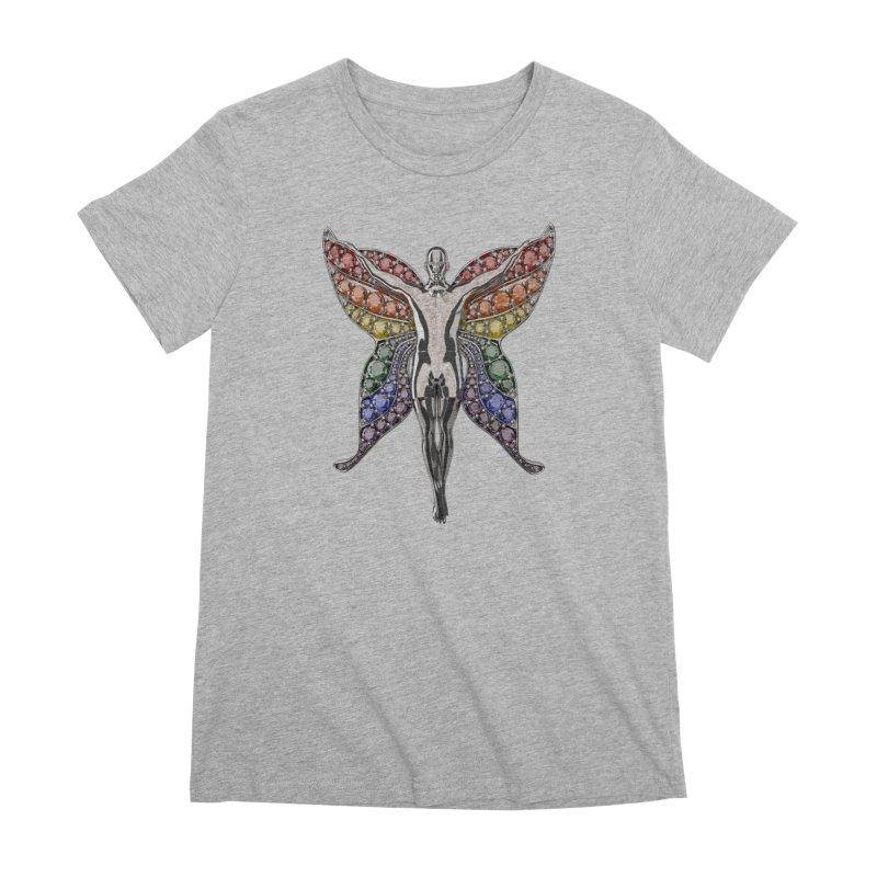 Enchanted Pride Fairy Women's Premium T-Shirt by Genius Design Lab's Artist Shop