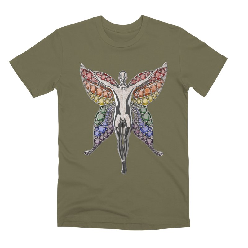 Enchanted Pride Fairy Men's Premium T-Shirt by Genius Design Lab's Artist Shop