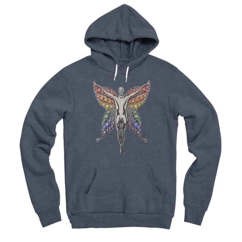 Enchanted Pride Fairy Men's Pullover Hoody by Genius Design Lab's Artist Shop