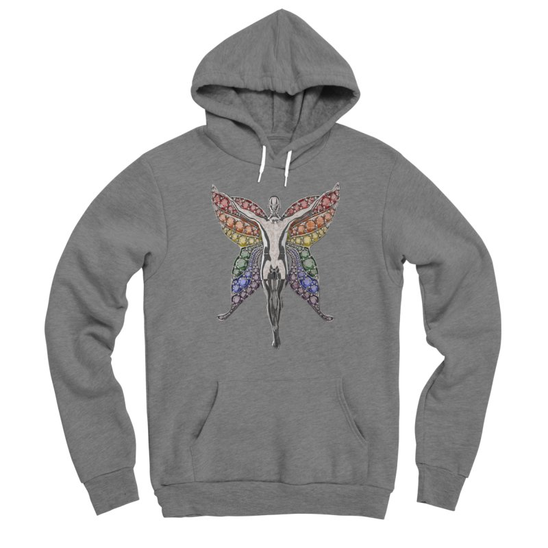 Enchanted Pride Fairy Men's Pullover Hoody by Genius Design Lab's Artist Shop